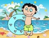 Enfant avec bouée