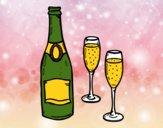 Champagne et lunettes