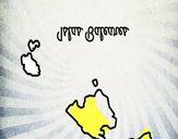 Coloriage Îles Baléares colorié par Mpdj