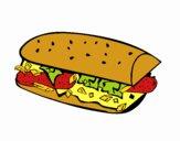 Coloriage Sandwich colorié par braissand