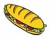 Coloriage Sandwich complet colorié par braissand