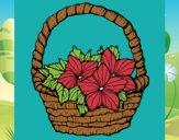 Coloriage Panier de fleurs 2 colorié par Vickee