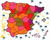 Les provinces de l'Espagne