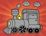 Coloriage Locomotive à vapeur colorié par raphael