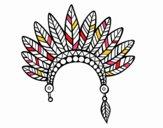 Tête de la couronne de plumes indienne