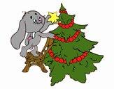 Lapin décoration de arbre de Noël