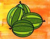 Coloriage Melons colorié par Danielle