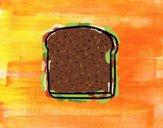 Coloriage Une tranche de pain colorié par Danielle