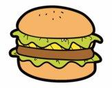 Hamburger avec salade