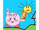 Kirby sur une journée ensoleillée