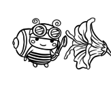 <span class='hidden-xs'>Coloriage de </span>Abeille collectrice à colorier