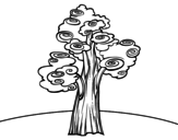 <span class='hidden-xs'>Coloriage de </span>Arbre fantaisie à colorier