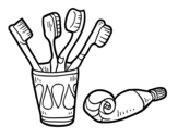 <span class='hidden-xs'>Coloriage de </span>Brosses à dents et dentifrice à colorier