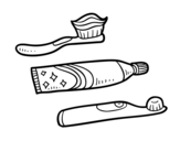 <span class='hidden-xs'>Coloriage de </span>Brosses à dents à colorier
