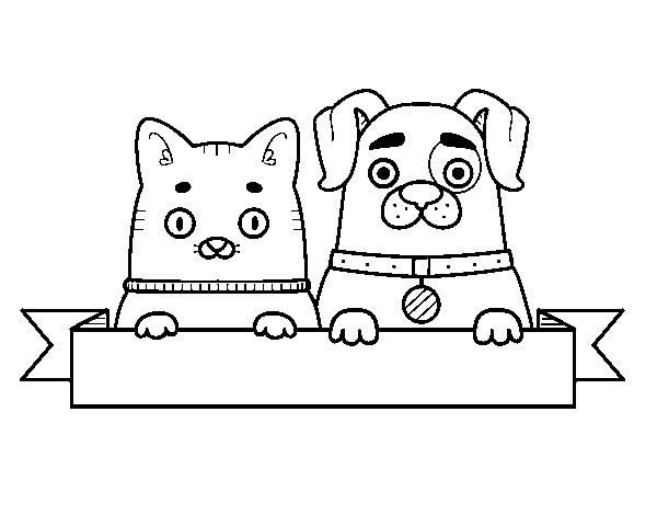 Coloriage de chiot et chaton pour colorier - Coloriage chiot ...