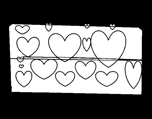 Coloriage Coeur Brillant.Coloriage De Coeurs Brillants Pour Colorier Coloritou Com