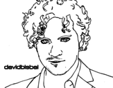 <span class='hidden-xs'>Coloriage de </span>David Bisbal premier plan à colorier