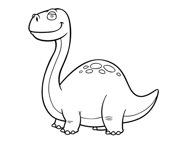 Coloriage De Dinosaure Diplodocus Pour Colorier Coloritou Com