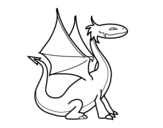 <span class='hidden-xs'>Coloriage de </span>Dragon mythologique à colorier