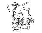 <span class='hidden-xs'>Coloriage de </span>Foxy de Five Nights at Freddy's à colorier