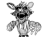 <span class='hidden-xs'>Coloriage de </span>Foxy terrifiante de Five Nights at Freddy's à colorier