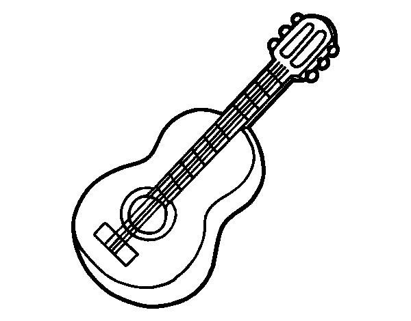 Coloriage De Guitare Classique Pour Colorier Coloritou Com