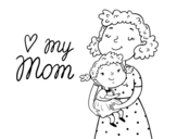 <span class='hidden-xs'>Coloriage de </span>I love my mom à colorier