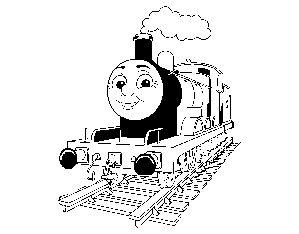 Coloriage de James la locomotive Rouge pour Colorier