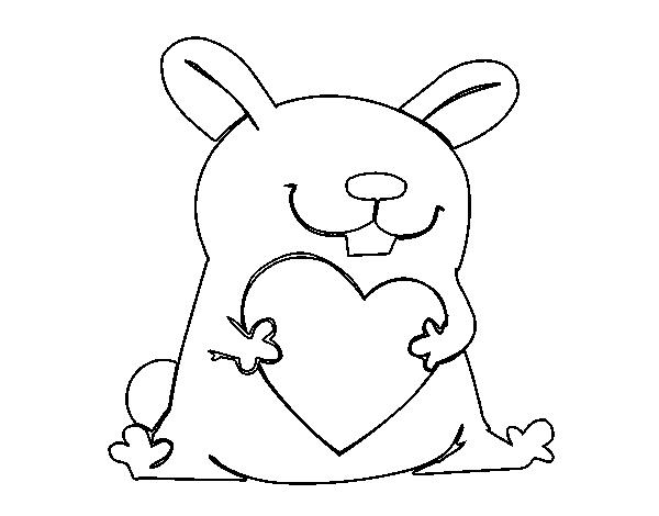 Coloriage Coeur Lapin.Coloriage De Lapin Avec Cœur Pour Colorier Coloritou Com