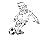 <span class='hidden-xs'>Coloriage de </span>Le football avant à colorier