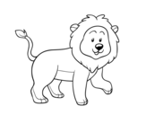 <span class='hidden-xs'>Coloriage de </span>Lion adulte à colorier