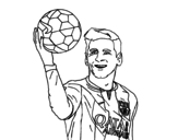 <span class='hidden-xs'>Coloriage de </span>Lionel Messi à colorier