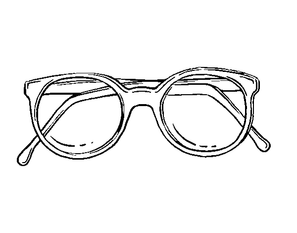 Dessin De Lunettes coloriage de lunettes rondes de pâte pour colorier - coloritou