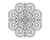 <span class='hidden-xs'>Coloriage de </span>Mandala art visuel à colorier