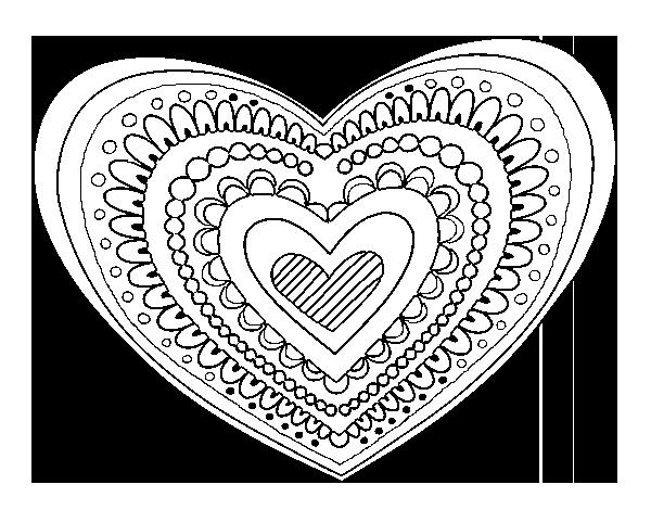 Coloriage De Mandala Cœur Pour Colorier Coloritou Com