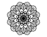 <span class='hidden-xs'>Coloriage de </span>Mandala de printemps à colorier