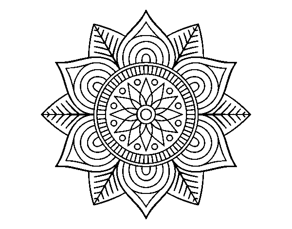 Coloriage De Mandala Fleur Etoile Pour Colorier Coloritou Com