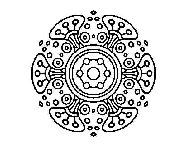 Coloriage De Mandala Monde Lointain Pour Colorier