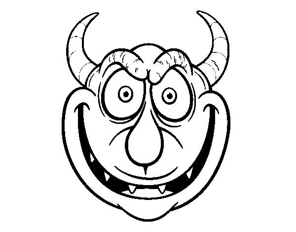 Coloriage de masque de d mon pour colorier - Dessin de demon ...