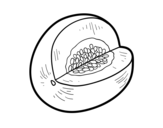 <span class='hidden-xs'>Coloriage de </span>Melon Galia à colorier