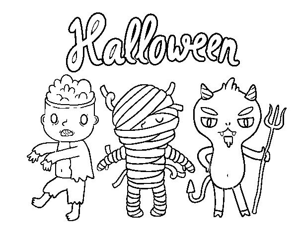 Coloriage De Monstres Pour Halloween Pour Colorier