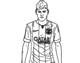 <span class='hidden-xs'>Coloriage de </span>Neymar Jr. à colorier