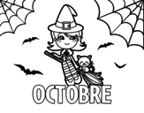 <span class='hidden-xs'>Coloriage de </span>Octobre à colorier