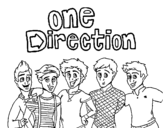 <span class='hidden-xs'>Coloriage de </span>One Direction 3 à colorier