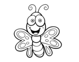 <span class='hidden-xs'>Coloriage de </span>Papillon souriant à colorier