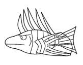 <span class='hidden-xs'>Coloriage de </span>Poisson-Lion à colorier