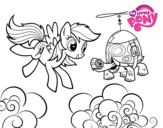 <span class='hidden-xs'>Coloriage de </span>Rainbow Dash and Tank Turtle à colorier