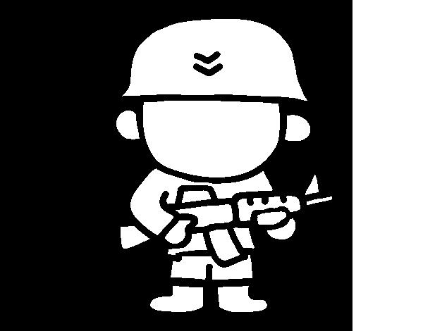 Coloriage Soldat Anglais.Coloriage De Soldat Pour Colorier Coloritou Com