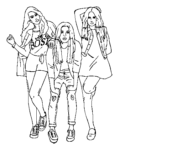 Coloriage de Sweet California groupe  pour Colorier