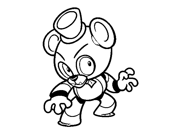 Coloriage de Toy Freddy de Five Nights at Freddy's pour Colorier